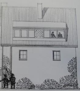 Dachgaube zeichnung