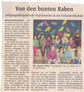 Jahrgangsübergreifende Projektwoche an der Eichendorffschule