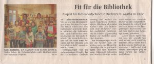 Projekt der Eichendorffschüler mit der Bücherei St. Agatha