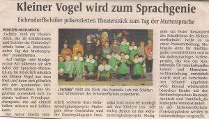 Eichendorffschüler präsentieren Theaterstück zum Tag der Muttersprache